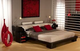 View in gallery Fiery reds for a passionate and romantic bedroom. Modern  Asian-themed ...