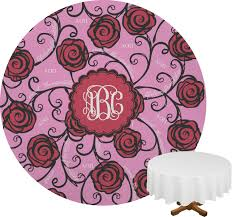 alpha omicron pi round tablecloth personalized