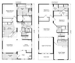 floor plan two y best two story house plans