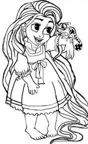 Disney Baby Rapunzel Coloring Pages Free