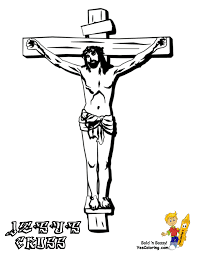 Printable Coloring Pages coloring pages of the cross : Jesus Crucified On The Cross Coloring Page And Crucifixion ...
