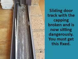 sliding door track replacement track repair