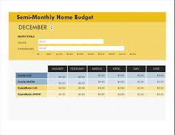 Monthly Home Budget Template Semi Monthly Home Budget