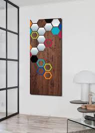 wood wall art modern art metal art