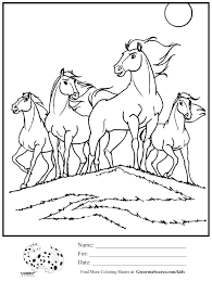 Horse Herd Coloring Pages Printable Coloring Page For Educations
