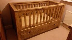 solid wood rustic wooden cot bed day bed with drawer made to measure
