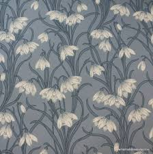 Vintage Wallpaper Patterns Custom 48's Vintage Wallpaper Stunning White Floral On Blue Background