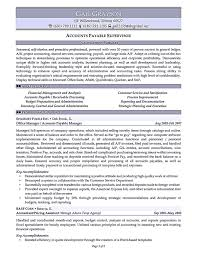 Account Payable Resume Display Your Skills As Account Payable