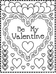 Small Picture Coloring Pages For Valentines Day Printable Cecilymae