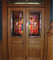 stained glass designs for doors with half glass style