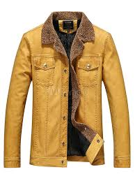 wolverine style leather jacket pockets brown pu jacket for men no 3