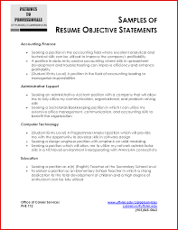 Fresh Accounting Resume Objective Examples Mailing Format