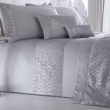luxury silver shimmer duvet cover sets