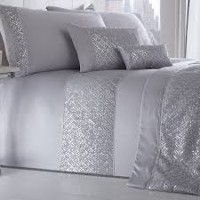 luxury silver shimmer duvet cover sets