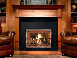 gas starter wood burning stove fireplace insert with fire plain decoration