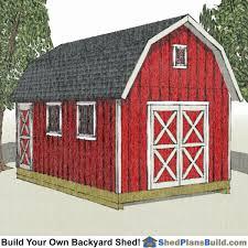 12x16 gambrel shed plans
