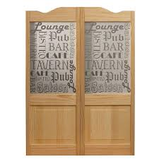 pub decorative glass over wood raised panel cafe door 813242 the home depot