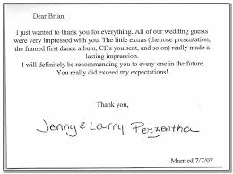 Thank You Note Examples Wedding Thank You Note Examples For Money The Weds Wedding Vendor