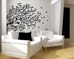 Decorations:Dazzling Interior Design Living Room Wall Art Ideas Interior Wall  Design Stickers With Black