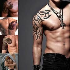 Rameno Tattoo Samolepky Vodotěsné Muži Netoxické Tetování Samolepky Body Art Jizvy Krycí Samolepky Atracující Obdivující Pohledy At Vova