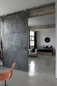Sliding loft doors interior