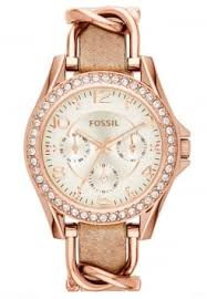 fossil watches shop fossil online zalando co uk fossil riley watch rosegold coloured light brown
