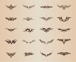 Free Tribal Tetování Prvek Vektorové Sada Clipart And Vector