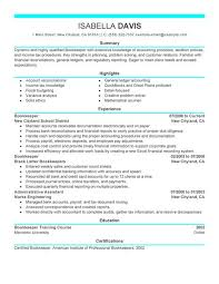 choose bookkeeper resume examples