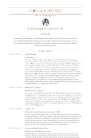 support manager resumes facility manager resume samples visualcv resume samples database