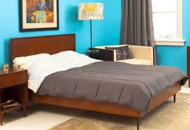 modern king bed frame. Beautiful Mid Century Modern King Bed Frame