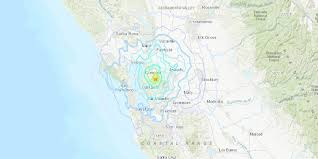 In the san francisco bay area, the san andreas system of faults spans offshore and into the east bay area, with the bulk of the faults lying to the east of the main saf. 4 5 Magnitude Earthquake Hits Near San Francisco Bay Area