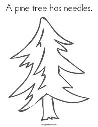Small Picture A pine tree has needles Coloring Page Twisty Noodle