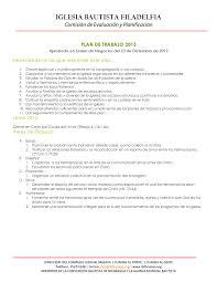 Plan De Trabajo 2013 By Iglesia Bautista Filadelfia Issuu Plan De Trabajo Anual De Una Iglesia Evangelica