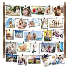 roolee hanging picture frame wood picture frame collage for wall decor by multi photo display