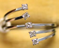 Ring Designs With Multiple Stones An 18ct White Gold And Diamond Set Five Stone Ring In A
