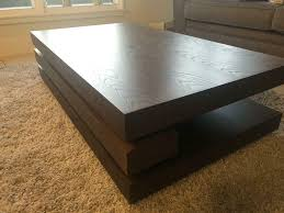 luca coffee table in dark elm wood edinburgh 150 00