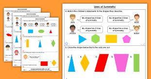 Lines Of Symmetry Homework Extension Year 4 Properties Of