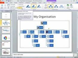 How To Make An Org Chart In Powerpoint 2010 How To Use Powerpoint Edit The Organization Chart Layout