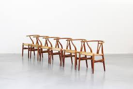 Danish Oak Wishbone Dining Chairs By Hans J Wegner For Carl Hansen S Set Of