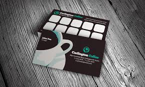 loyalty card template modern cafeteria loyalty card template free download cf00002
