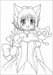 Anime Cat Girl Coloring Pages Download Anime Coloring Pages Awesome