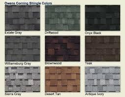 Shingle Color Comparison Chart Owens Corning Shingle Colors Color Chart Owens Corning