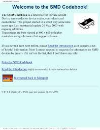 Smd Zener Diode Color Code Chart G4pmks Smd Codebook