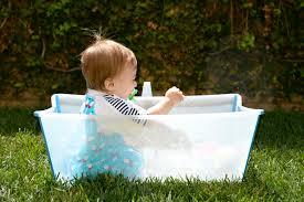 stokke flexi bath as baby pool