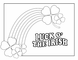 Small Picture Luck O the Irish Free Printable Coloring Pages