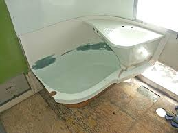 rv bathtub i have a taller back added onto the tub out of fiberglass that wraps rv bathtub