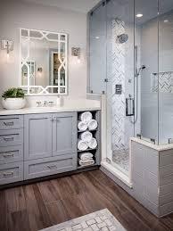 bathroom subway tile floor. Transitional Master Gray Tile And Subway Medium Tone Wood Floor Bathroom Photo In San Diego