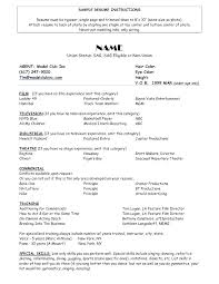 How To Make A Resume With No Experience Example Cool Professional Actors Resume Format Examples Latest Sample Acting