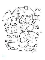 L Gant Coloriage Animaux De La Ferme Chien