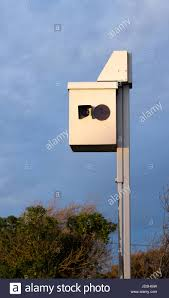 Box On Light Pole Speed Camera Box On A Pole Ready To Snap Speed Cars Stock